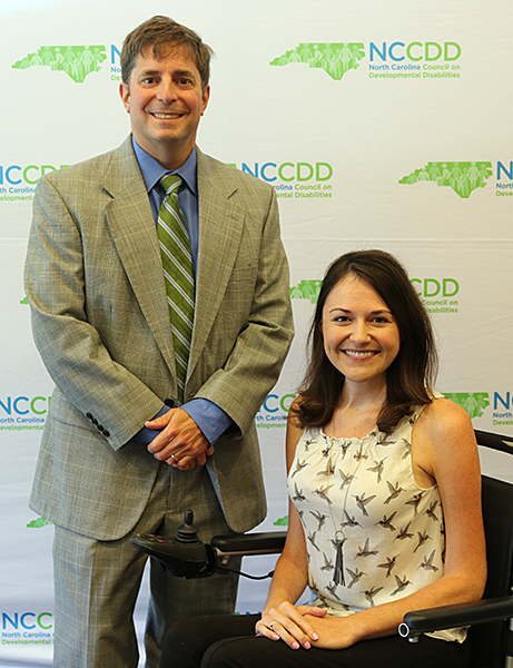 Executive Director Chris Egan with NCCDD Chair Alex McArthur