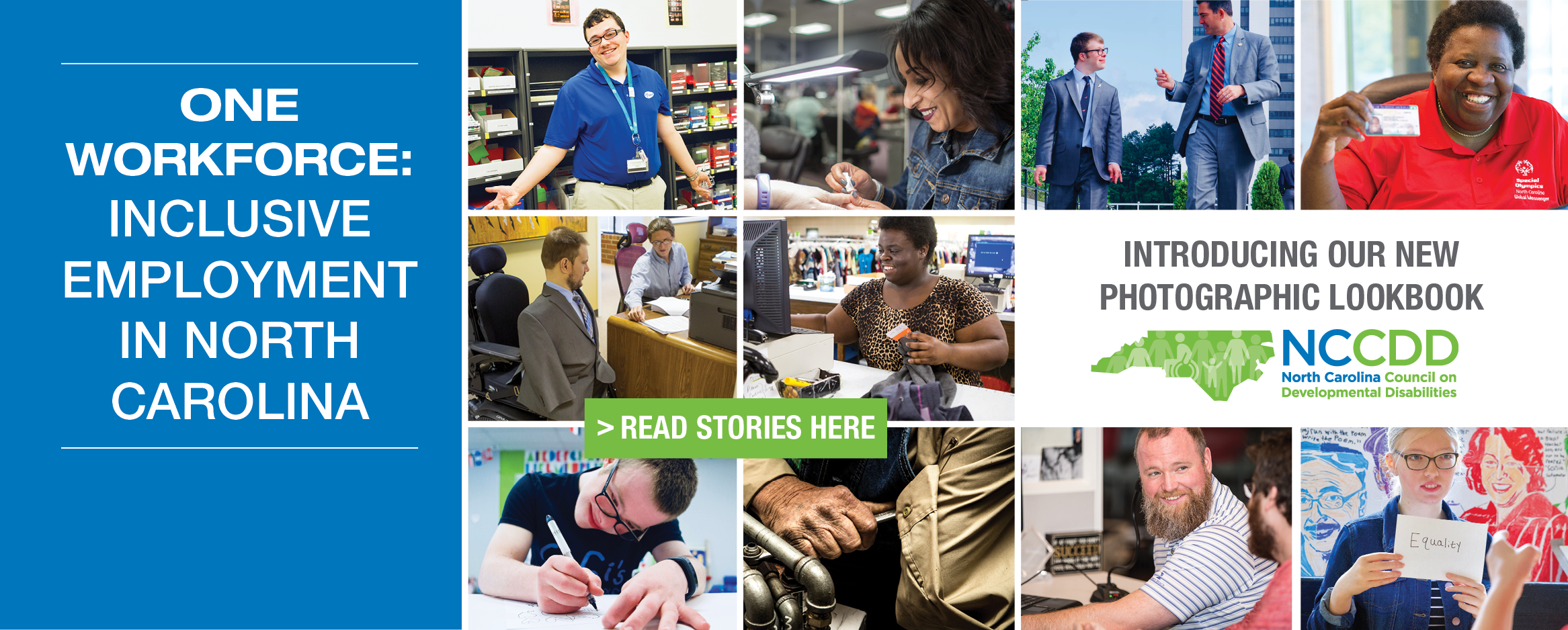 Introducing our new Photographic Lookbook - One Workforce: Inclusive Employment in North Carolina